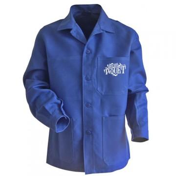 Veste esprit vintage bleue suis au taquet