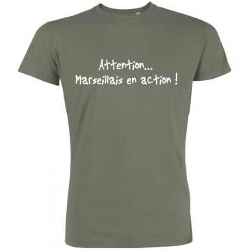 T-shirt Attention marseillais en action