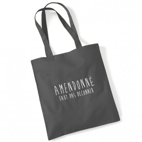 Tote bag amendonné