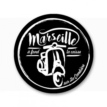 Magnet vespa Marseille à fond la caisse