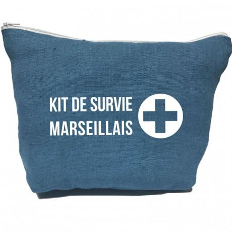 Grande pochette kit de survie Marseillais