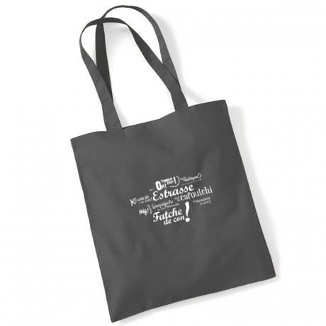 Tote bag expressions marseillaises