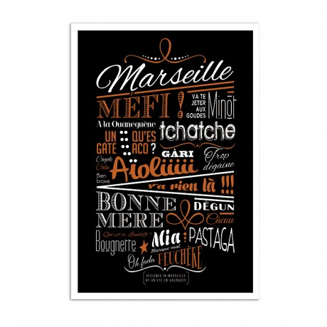 Affiche expressions marseillaises