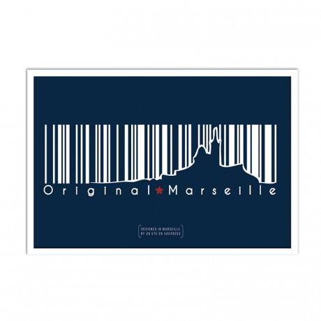 Affiche Code barre marseille