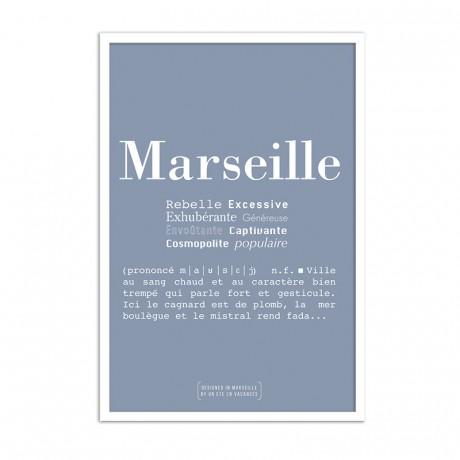 Affiche Definition de Marseille