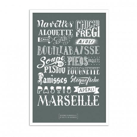 Affiche specialités marseillaise