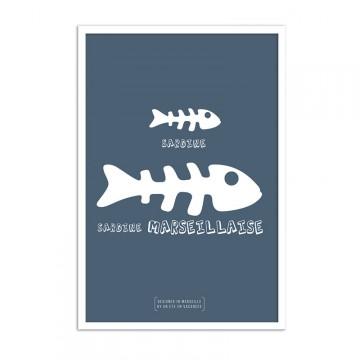 Affiche sardine marseillaise