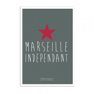 Affiche marseille independant