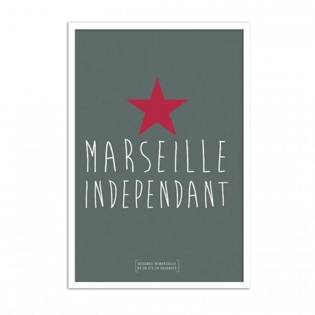 Affiche marseille independant
