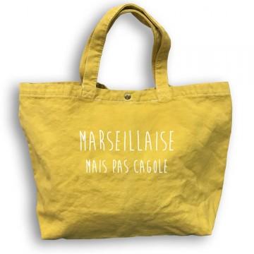 Sac cabas teint et lavé Marseillaise mais pas cagole