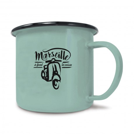 Mug en métal émaillé Vespa Marseille