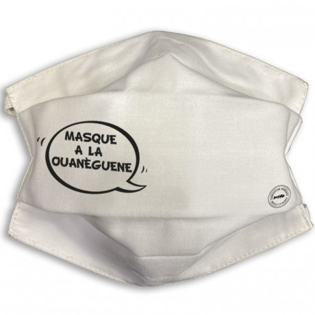Masque barrière à la ouanèguene